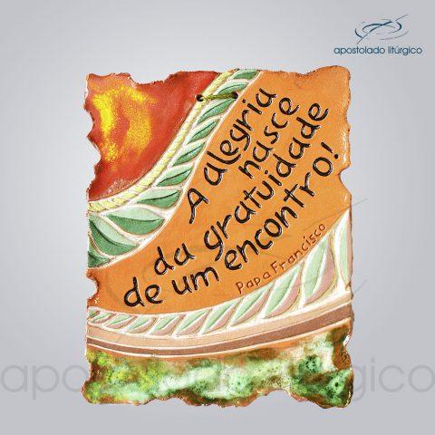 Quadro de Ceramica Alegria Nasce 12x15cm – 2261