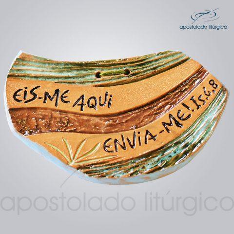 Quadro de Ceramica Eis-me Aqui 7x12cm – COD 39996