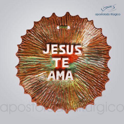 Quadro de Ceramica Jesus te ama 12X10 cm-2101