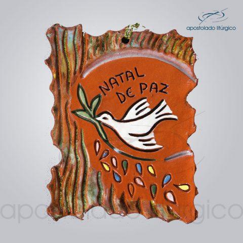 Quadro de Ceramica Natal de Paz 11X8 cm-2064