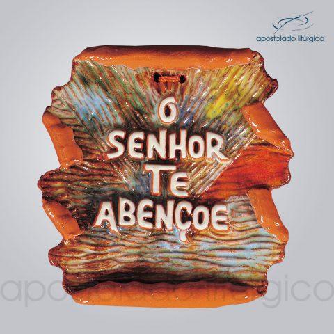 Quadro de Ceramica O Senhor Te Abencoe Pergaminho – COD 2151