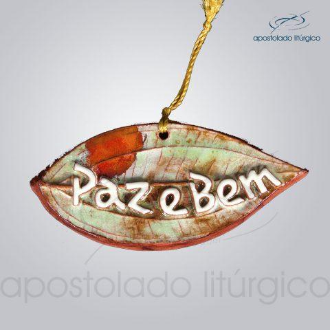 Quadro de Ceramica Paz e Bem PO Folha 5x11cm – COD 2097