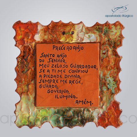 Quadro de Ceramica Prece ao Anjo P2 15x15cm – COD 2159