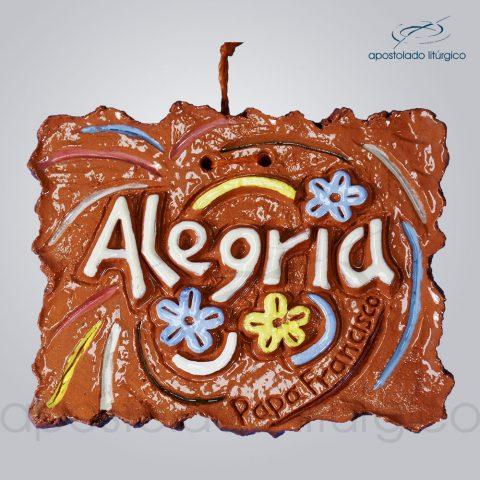 Quadro de ceramica Alegria 8×10 cm-2260