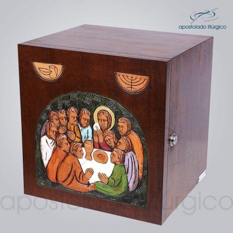 Sacrario Ceia Simbolo Colorido 32x32x28cm Lateral – COD 4091