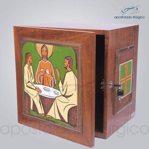 Sacrario Emaus Cruz Laterais Medio 38x38x32cm Frente Aberta – COD 4037