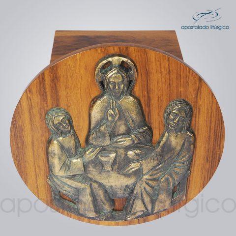 Sacrario Emaus Porta Redonda 45cm Diametro 28x28x26cm Frente Superior – COD 4058