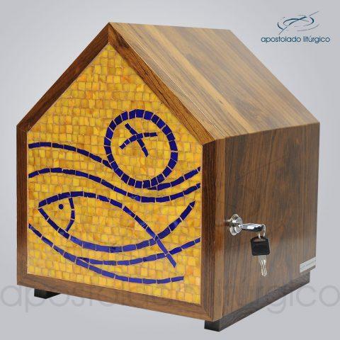 Sacrario Mosaico Casa Peixe Pao Medio 30x30x34cm Frente – COD 4195