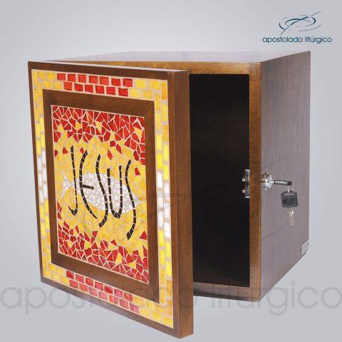 Sacrario Mosaico Jesus Medio 32x32x30cm Aberto – COD 4170