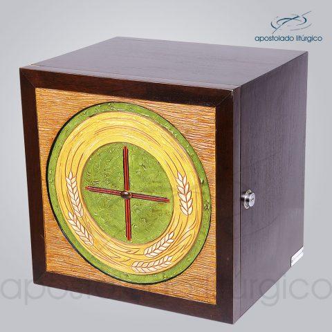 Sacrario Trigo Cruz Medio 32x32x26cm Frente Laterais – COD 4159