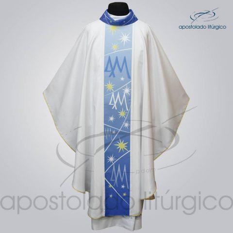 Casula Crepe Seda galao [mariano] branca frente