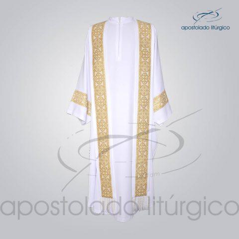 Conjunto Casula Alva Galao [Largo N 10 Dourado] Frente – COD 01865-0000