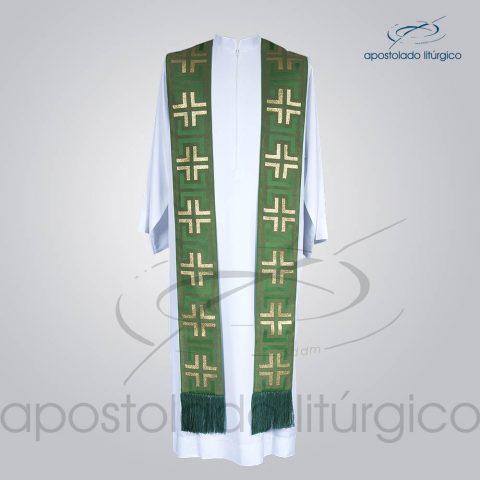 Estola Presbiteral Brocada [Tupa] Verde Frente