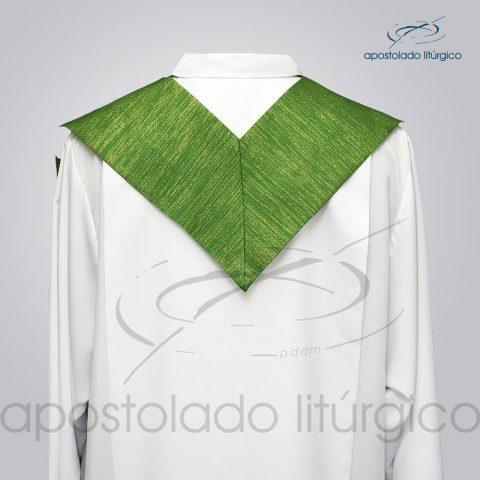 Estola Presbiteral Ravena Bordado [Cordeiro] Verde Costas