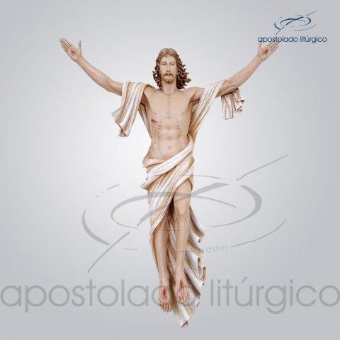 Imagem Cristo Ressuscitado Fibra 100x80cm Frente – COD 4156