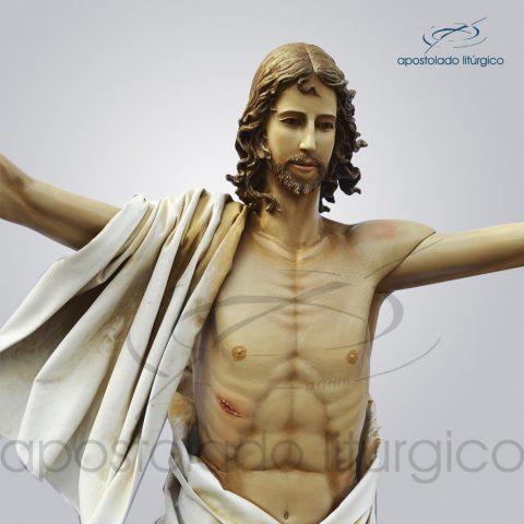 Imagem Cristo Ressuscitado Fibra 180x160cm Close – COD 4207