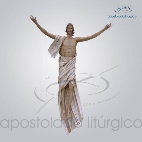 Imagem Cristo Ressuscitado Fibra 280x235cm Frente