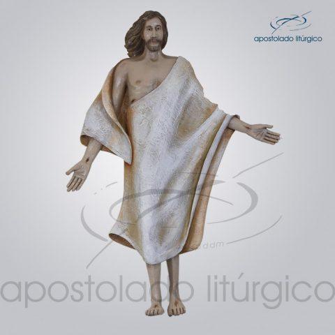 Imagem Cristo Ressuscitado fibra 70 cm COD 4152