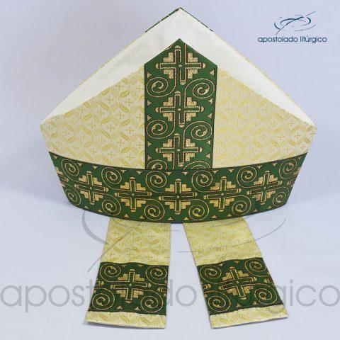 Mitra Gotica brocado damasco galao 9 verde cima