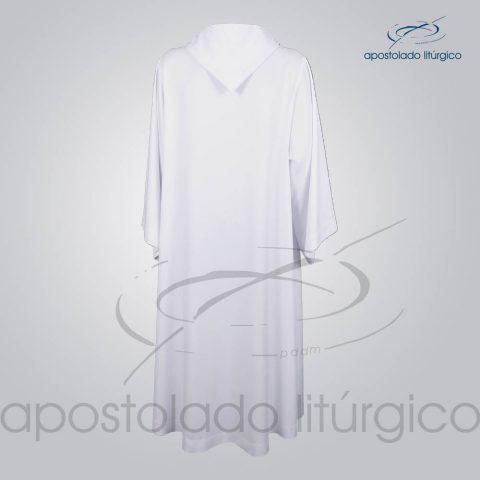 Tunica Monacal Capuz Branca Costas COD 1166