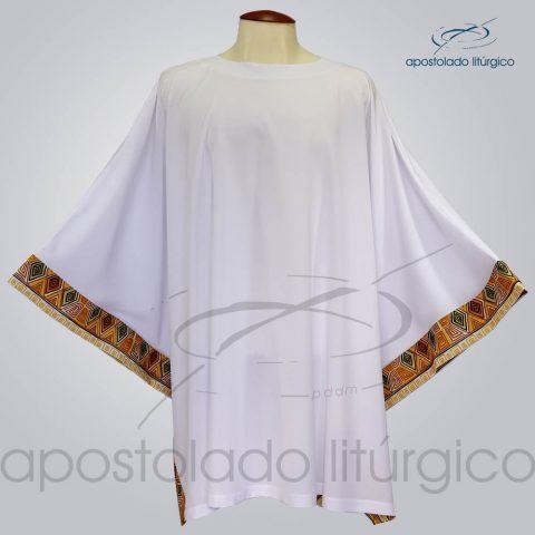 Veste Poncho Aplique 9 Arredondada Branca – COD 1804