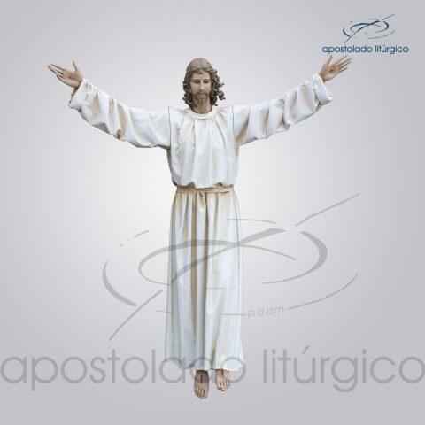 Imagem Cristo Ressucitado com tunica 180 cm COD 4206
