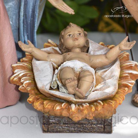 Imagem Sagrada Família do Natal 35 cm detalhe menino COD 4221