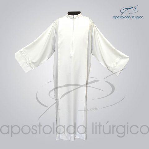 Tunica Tecido Inteligente Pregao [Bordado 3 Branco] Manga Frente bracos abertos – COD 3260